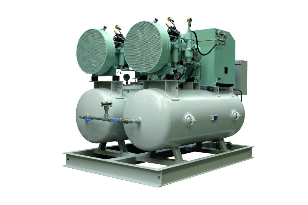 Sprężarki wysokociśnieniowe tłokowe MISTRAL 2 x WP65L wersja z osuszaczami i zbiornikami MISTRAL