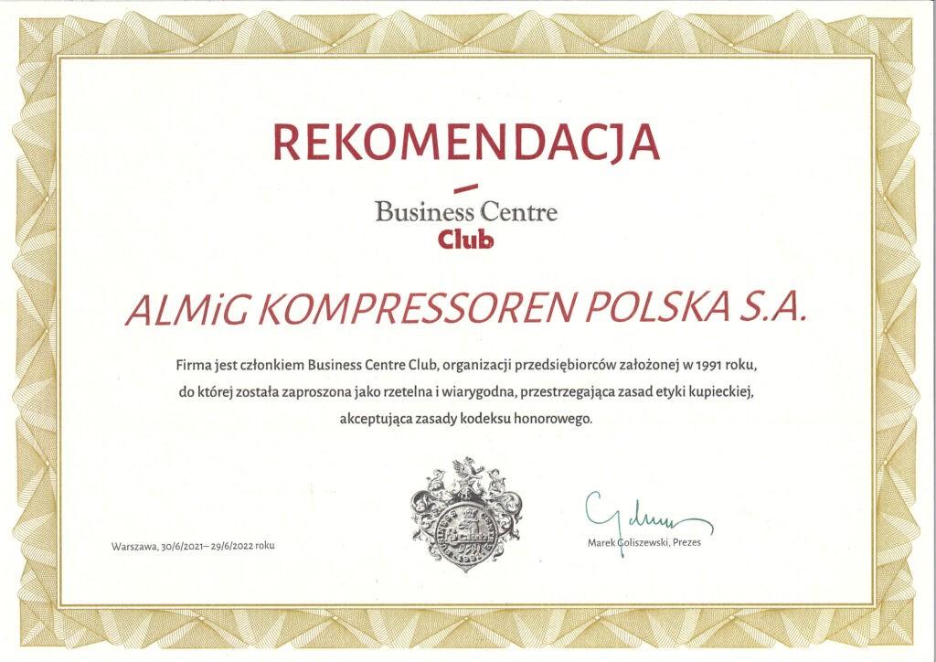 ALMiG Rekomendacja BCC